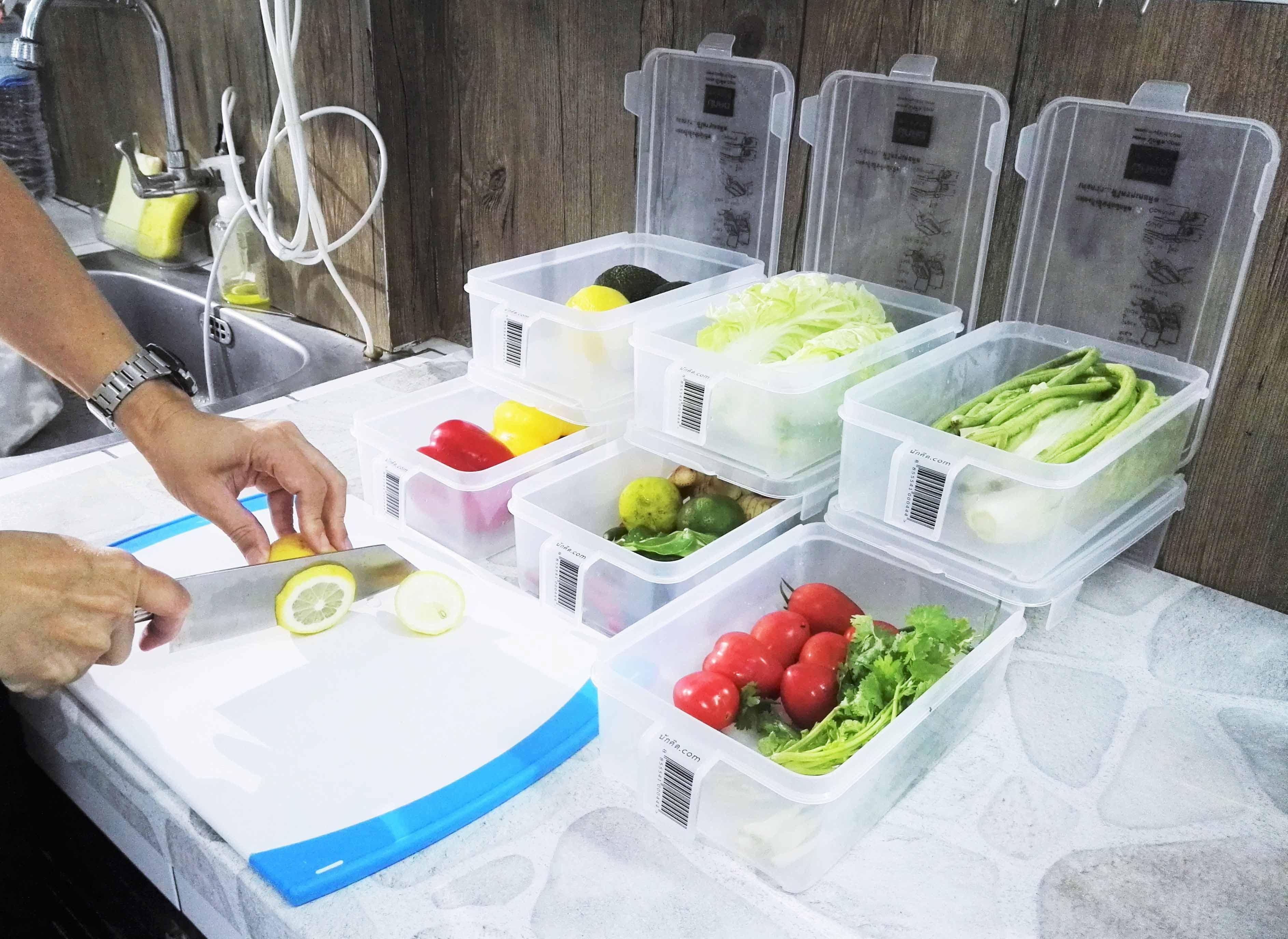 กล่องนักคิด กล่องจัดตู้เย็น จัดระเบียบตู้เย็น ไมโครเวฟ กล่องฟู้ดเกรด กล่องเก็บผัก เก็บผลไม้ กล่องเก็บอาหาร กล่องล็อค กล่องซีลอากาศ กล่องใส่อาหาร